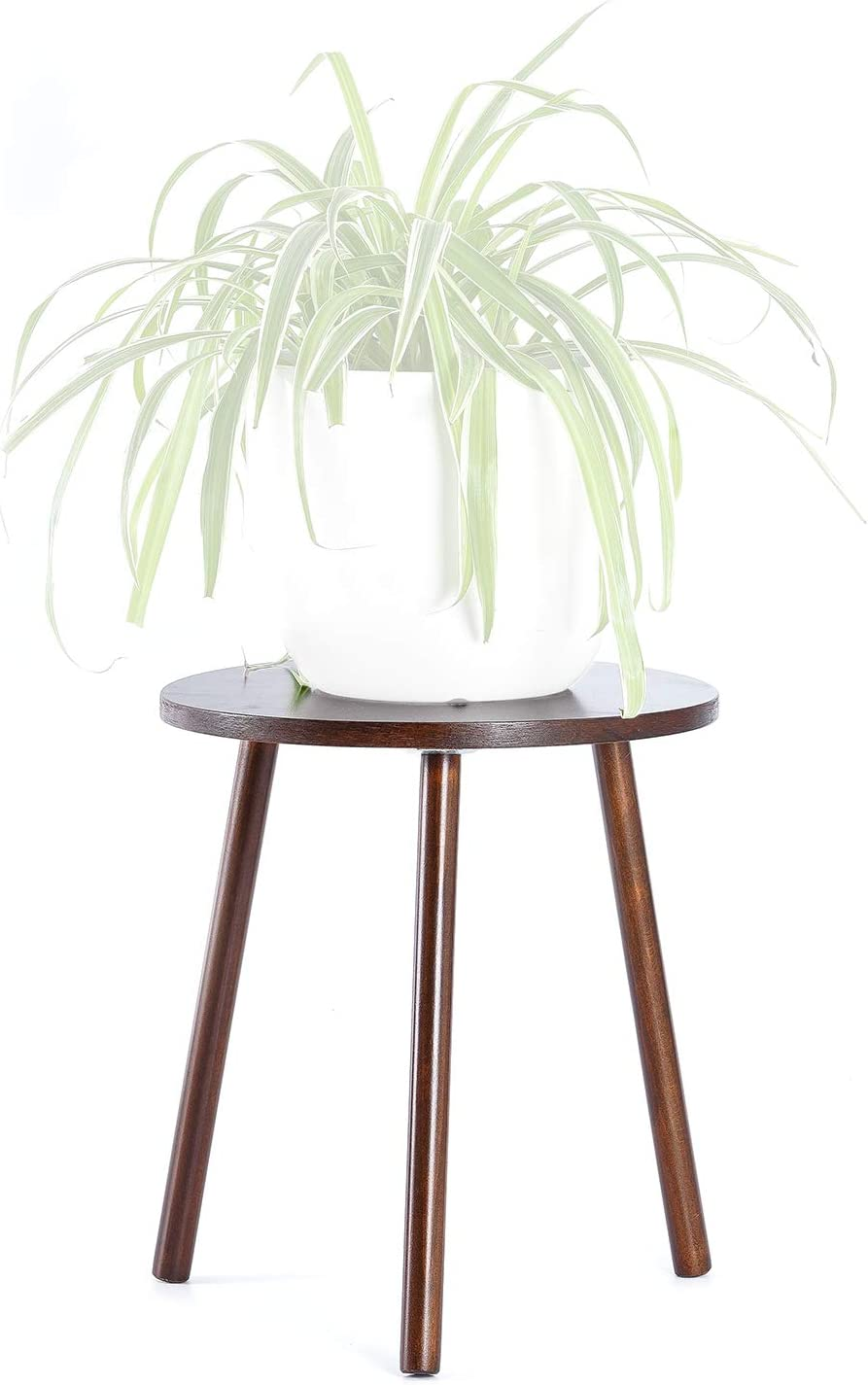 Black Planter Not Included Small Round Side Table Modern Home D/écor TIMEYARD Mid Century Plant Stand Indoor Tall Plant Stand Wood Planter Holder for Flower Pots