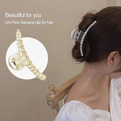 Donne Ragazze Mini Perle Per Capelli Clip Artiglio Retrò Strass Hairclips delle mollette NUOVO