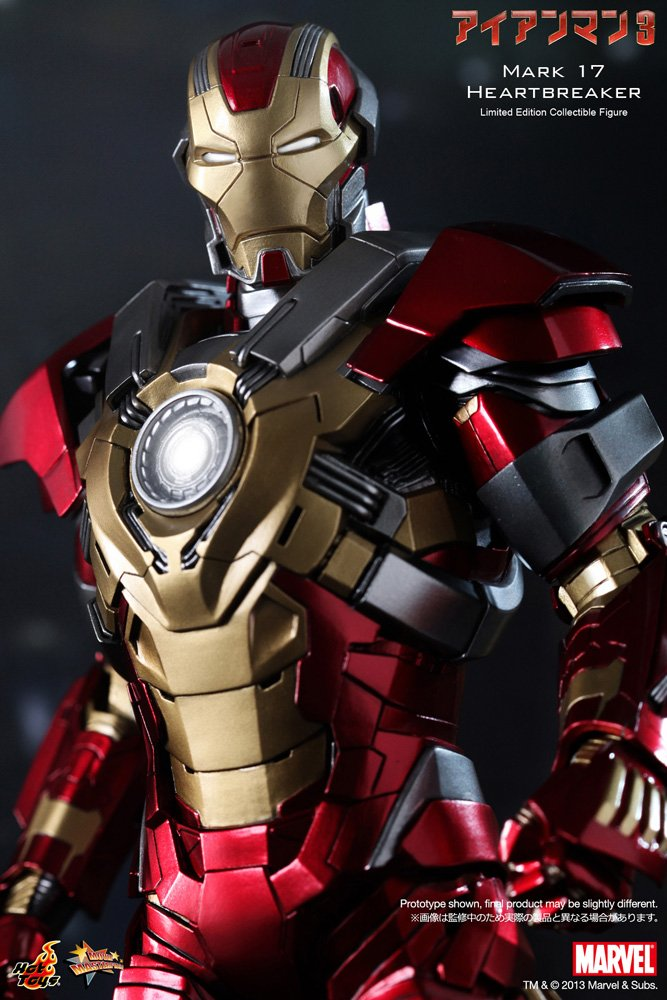Hot Toys Maßstab 1 6 Iron Man Mark 17 Heartbreaker Figur Amazonde