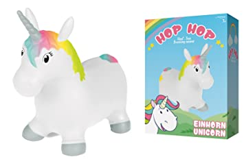 John Salto caballo Unicornio Hop Hop hüpf Pony Unicorn 55 cm ...