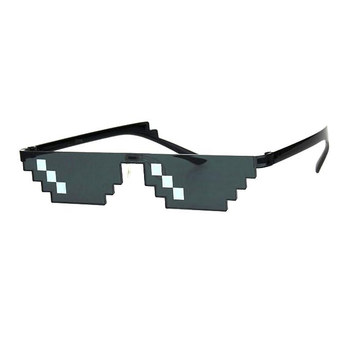 Amazon.com: Thug Life - Gafas de sol con diseño de gánster ...