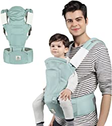 Pink 6-in-1 Infant and Toddler Soft Baby Carrier for All Shapes and Seasons,Baby Holder by BELOPO Ergonomic Baby Hip Seat Carrier