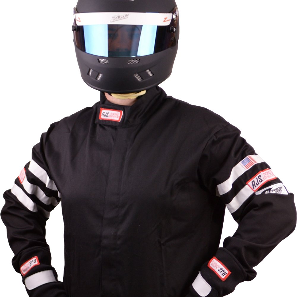 Racing Fire Suits >> Amazon Com Rjs Racing Fire Suit Racing Jacket Black White Stripes