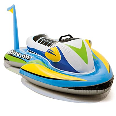 Kids Inflatable Ride-On Jet Boat Wave Rider Pool Float Raft Beach Party Sports: Toys & Games