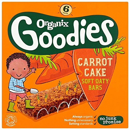 Organix Goodies From 12+ Months Organic Carrot Cake Soft Oaty Bars 6 x 30 g (Pack of 6, Total 36 Bars) Organix Brands 408106