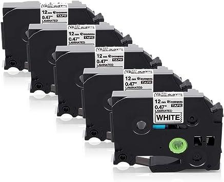 5 Schriftband-Kassette kompatibel für brother TZ-231 P-Touch 2430PC 200