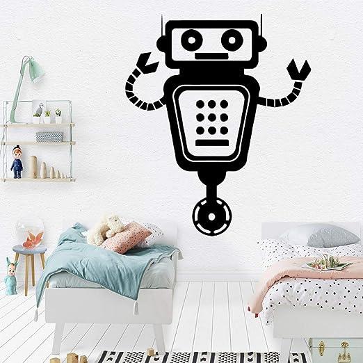 YXWLKG Pinturas decorativasExquisito Robot Vinilo Papel Pintado Rollo Muebles Decoración Decorativa para el hogar Niños Casa DIY PVC Accesorios para la decoración del hogar: Amazon.es: Hogar