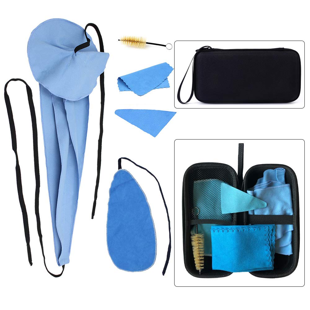 Luvay Saxophone Cleaning Care kits with Case (EVA Box) for Clarinet, Flute and Wind & Woodwind instrument