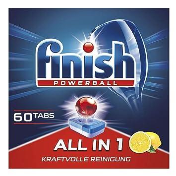 Finish All in 1 Citrus, Pastillas para Lavavajillas, XXL, 60 ...