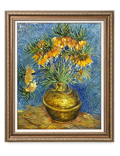 DecorArts - Crown Imperial Fritillaries in a Copper Vase, Vincent Van Gogh Art Reproduction. Giclee Prints& Framed Art for Wall Decor. 30x24