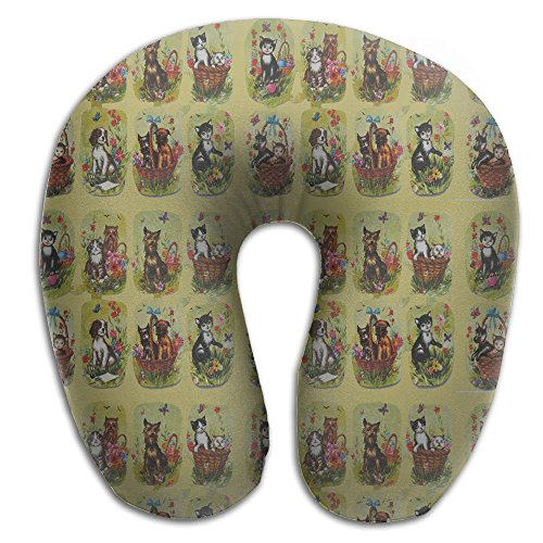 Cats Dogs 1980s (2) Soft Microfiber Neck-support Travel Neck Pillow ()