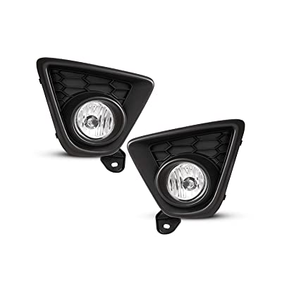 Fog Light Assembly for 2013 2014 2015 Mazda CX-5 With Clear Lens 2PCS OEM Replacement with Switch and Wiring Kit AUTOWIKI: Automotive