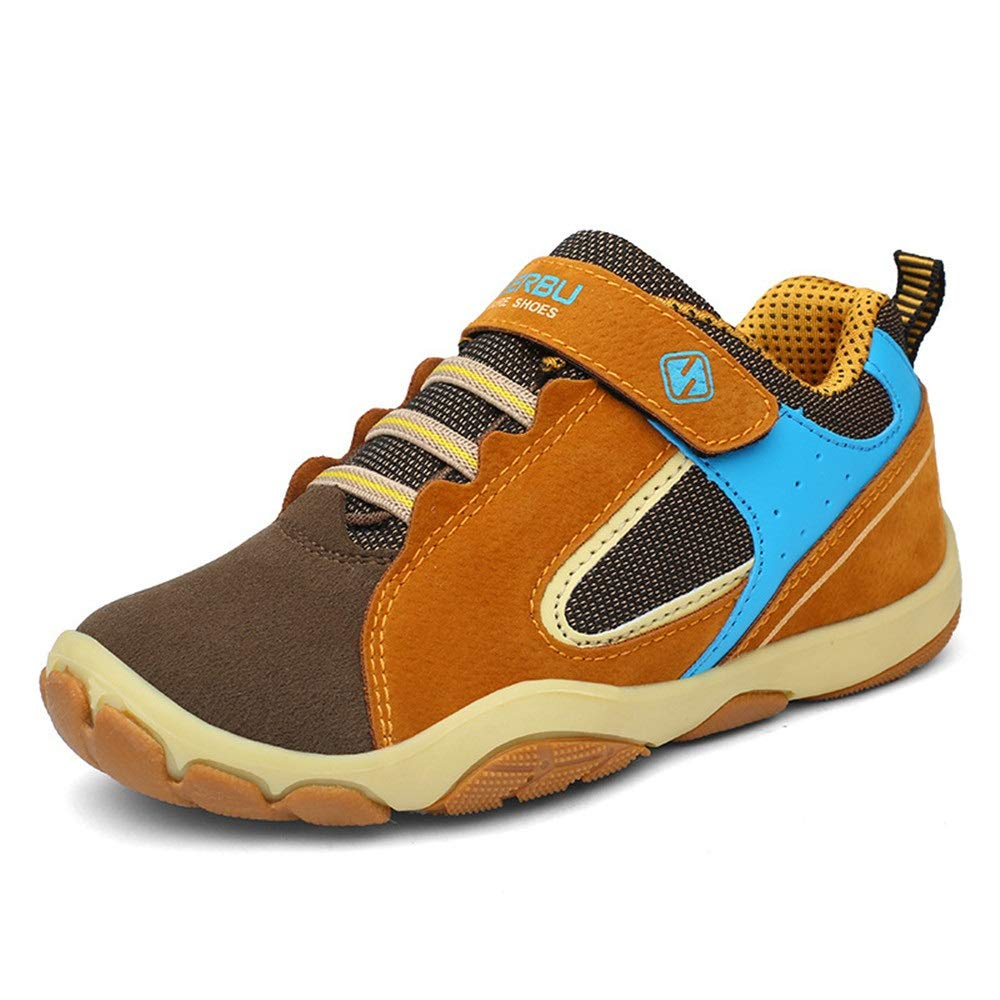 GHJGTL Chaussures De Sport pour Enfants Les Gar/çons Et Les Filles Portent des Chaussures De Course en Cuir avec Absorption De Choc en Surface Couleur : Violet, Taille : 28