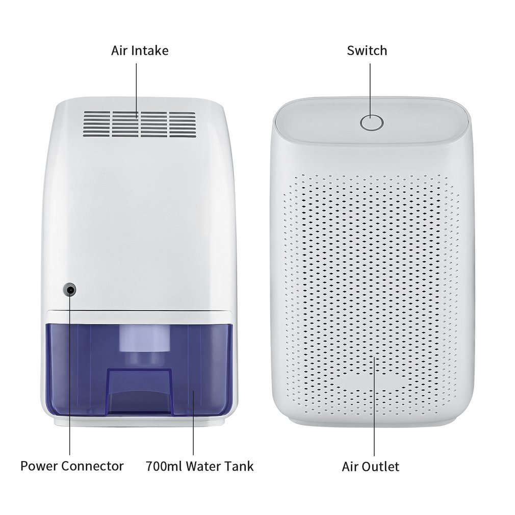 LESHP Mini Air Dehumidifier, 700ml Compact and Portable Whisper-quiet Dehumidifier Air Dryer 215 Sq FT for Home, Kitchen, Bedroom, Bathroom, Basement, Caravan, Office, Garage, Closet Wardrobe by LESHP (Image #6)