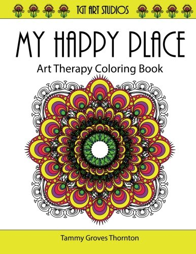 Amazon.com: My Happy Place: Art Therapy Coloring Book (Coloring ...