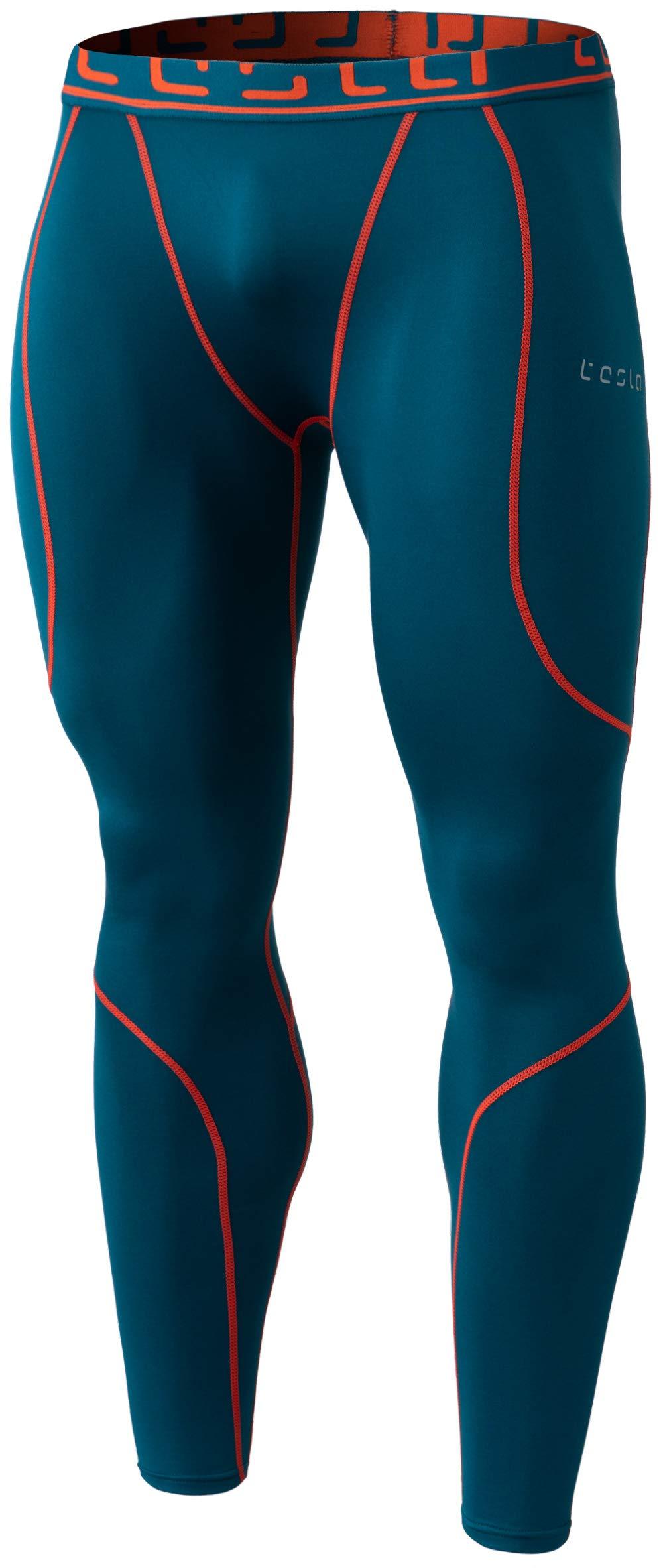TSLA TM-YUP43-FGN_Medium Men's Emboss Pants Thermal