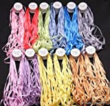 New 7mm size ThreadNanny 12 Spools of 100% Pure Silk Embroidery Ribbons - 7mm x 10 Meters