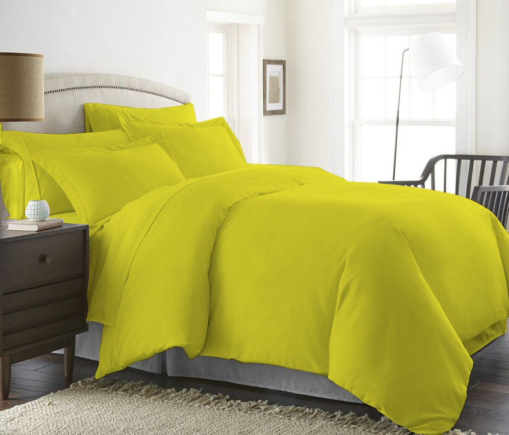 100% Egyptian Cotton Luxurious & Hypoallergenic ( Twin/TwinXL, Yellow