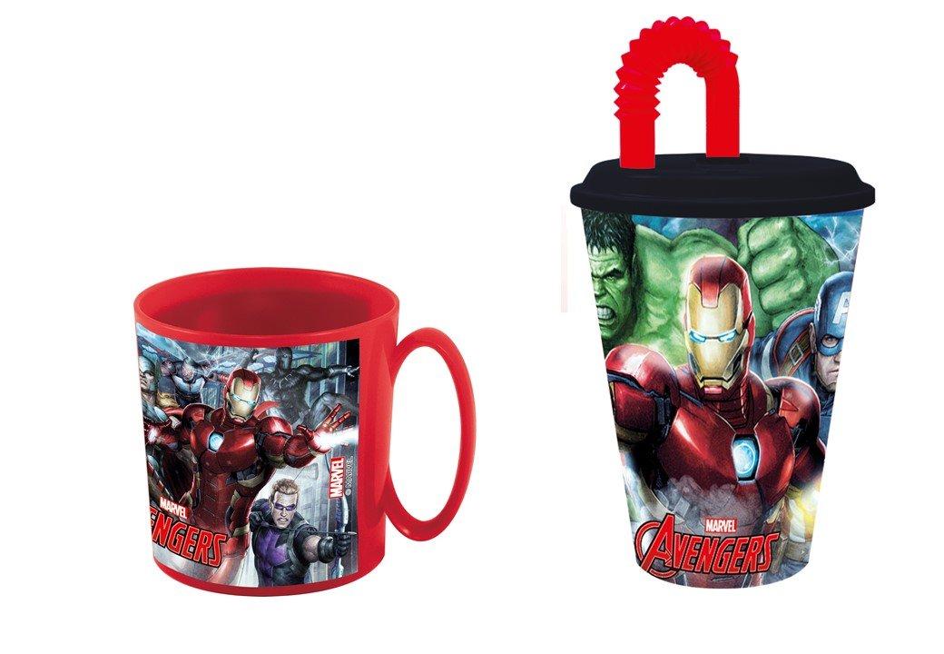 avengers,Taza apta para microondas y vaso.: Amazon.es: Hogar