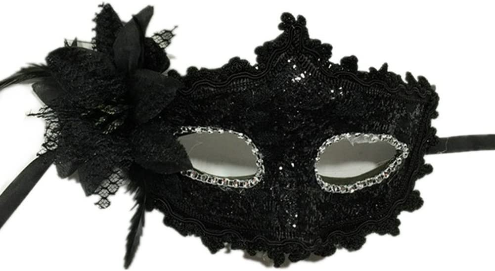Halloween Black Lace Mask Venetian Masquerade Eye Masks Party Fancy Prom Ball UK