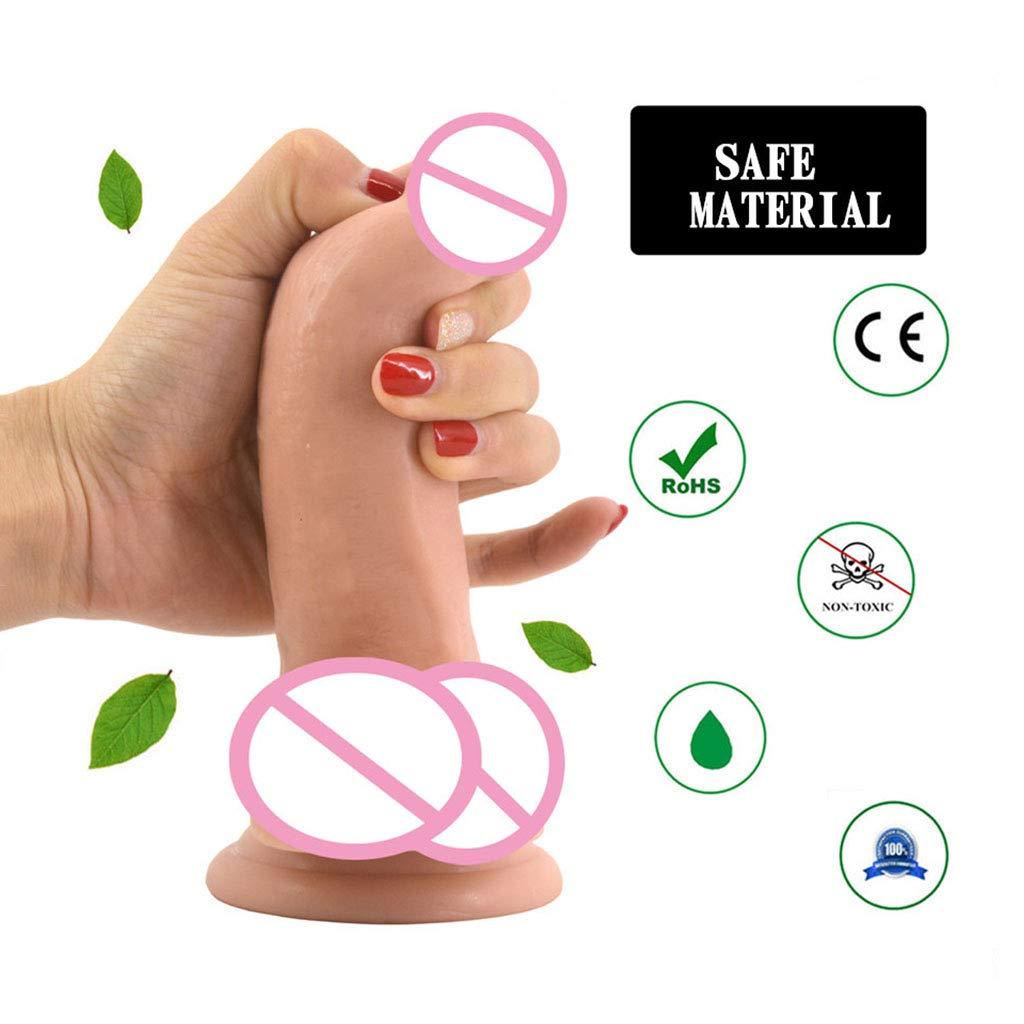 Masaje manual Peníaco femenino femenino Peníaco Mestabilización Plugnal Plug Suction Cup Massager (Color : Flesh) 701df9