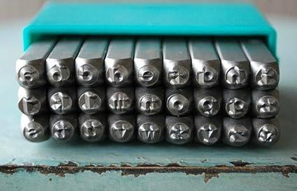 Amazoncom 3mm Typewriter Font Alphabet Punch Metal Letter Jewelry