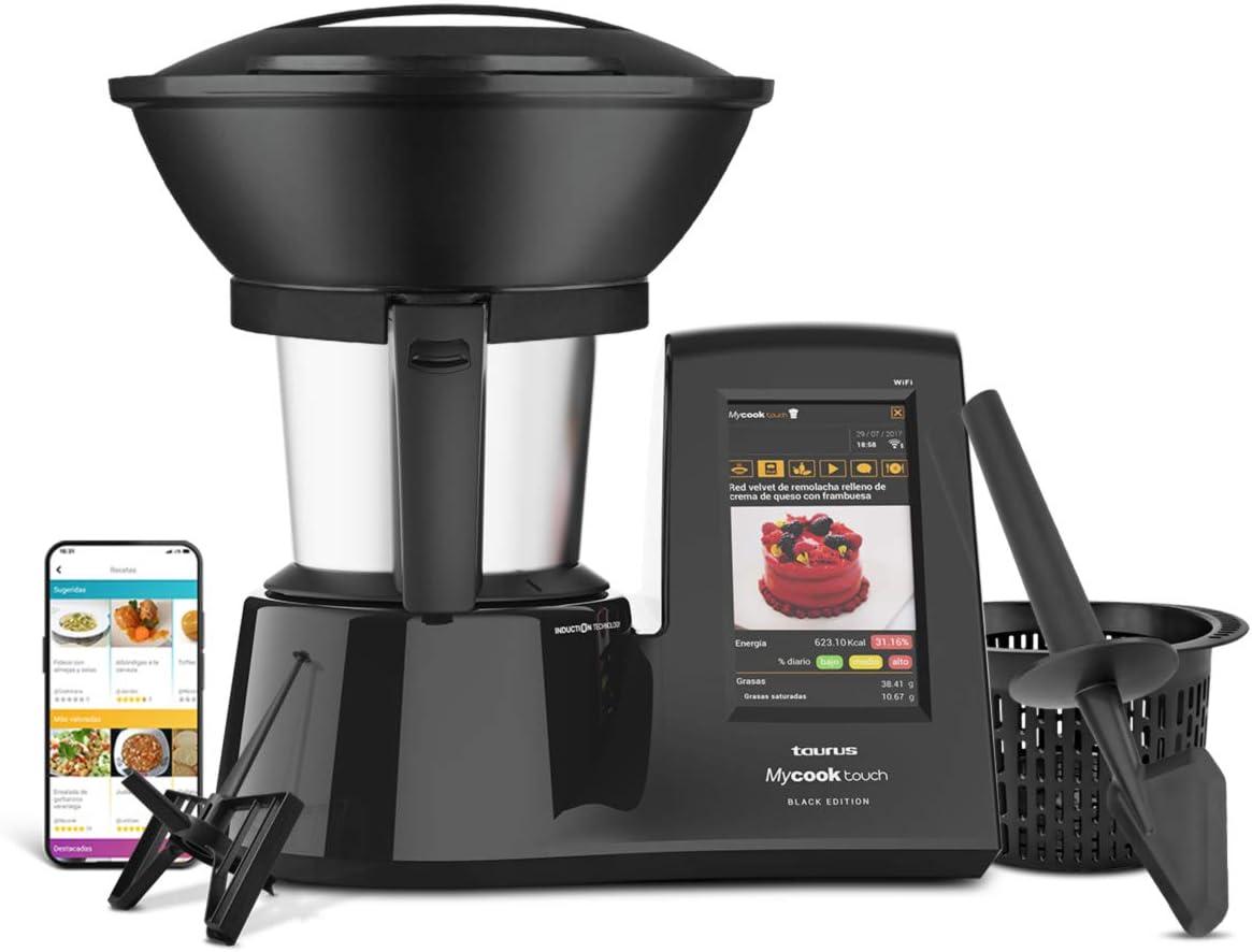 Taurus Mycook Touch Black Edition - Robot de Cocina con wifi ...