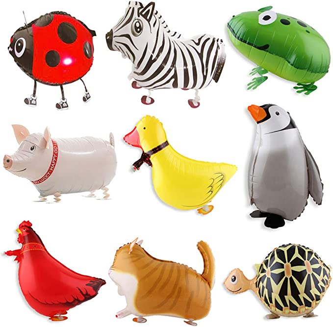Walking Animal Balloons 12 Pieces Pet Dog Balloons Balloon Toys Air Walkers For Kids Gift Birthday Party Decor by Cool Bank