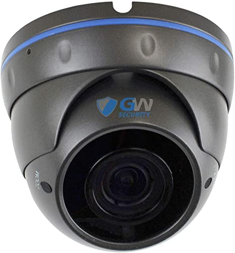 GW Security VD5489IP H.265 POE IP Security HD IP 5MP 1920P 1080P Varifocal Dome Camer Gray