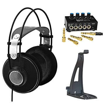 82694a69df5 Image Unavailable. Image not available for. Color: AKG K612 PRO Studio  Headphones with Knox Gear Headphone Amplifier ...