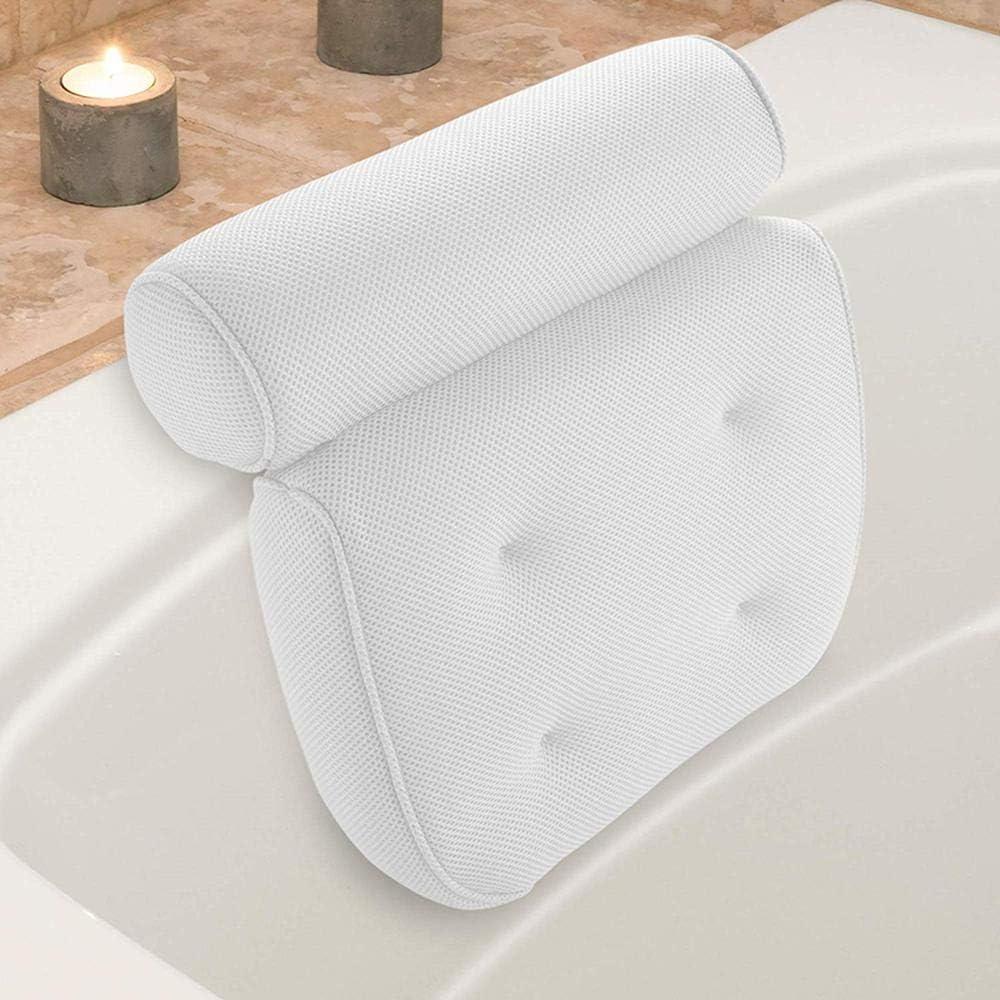 t Almohada de baño con 6 ventosas para relajación de la Cabeza ...