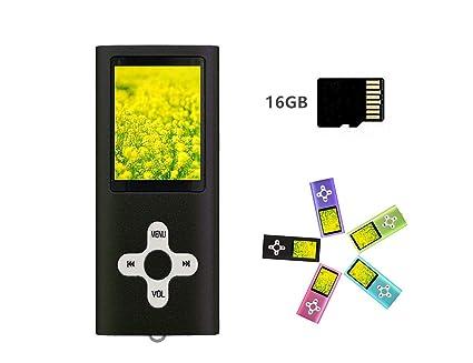 Reproductor MP3/MP4 con tarjeta micro SD de 16 GB ...