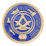 Freemason Beautyful Rare Gold Plated Medal Masonic Collectible Special Gift Present