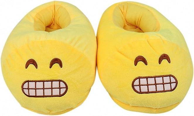 Kids Emoji Plush Stuffed Unisex Home Indoor Slipper Shoes Size S kids US 8-9