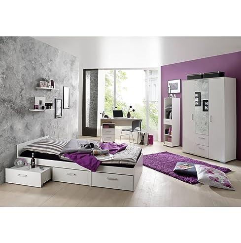 Jugendzimmer design mädchen weiß  Jugendzimmer Steffi Weiss/Weiss 6 tlg.: Amazon.de: Küche & Haushalt
