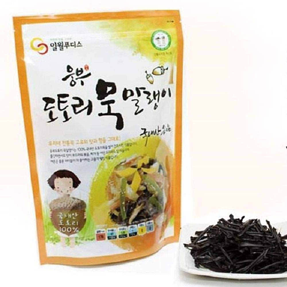 Dried Acorn Jelly 250g, Product of Korea 묵말랭이 by Ilweol (Image #1)