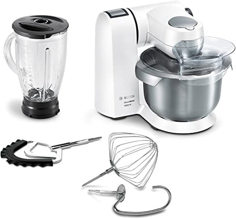 Bosch MaxxiMUM Robot de cocina, 1600 W, 1.75 litros, Metal, 7 Velocidades, Blanco: Amazon.es: Hogar