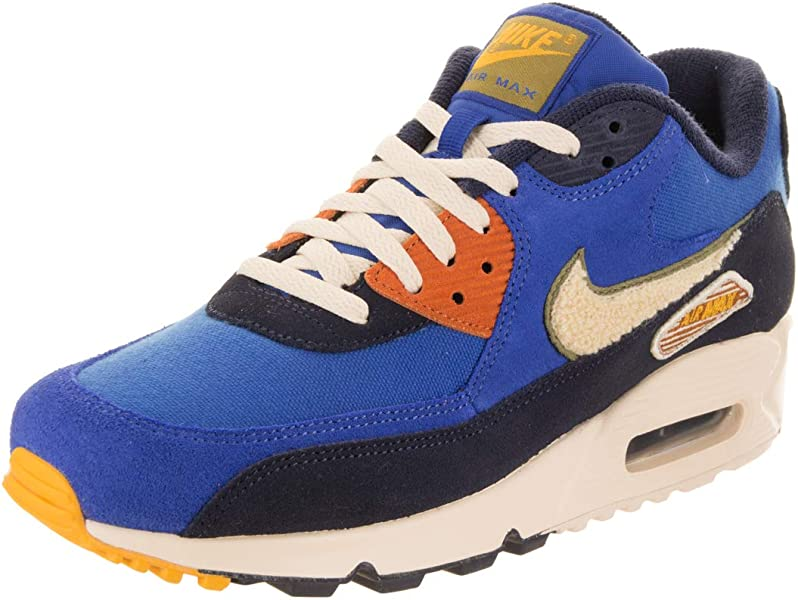 quality design b84fe a4ce7 Nike Air Max 90 Premium Se, Sneakers Basses Homme, Multicolore (Game Royal