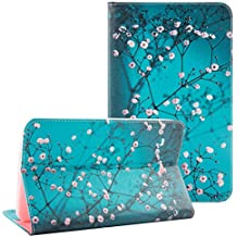Galaxy Tab E 8.0 T377 case - UUcovers Ultra Slim Lightweight Standing Cartoon Pattern Wallet Case Cover for Samsung Tab E 8.0-Inch SM-T377 Tablet,Pear Flower