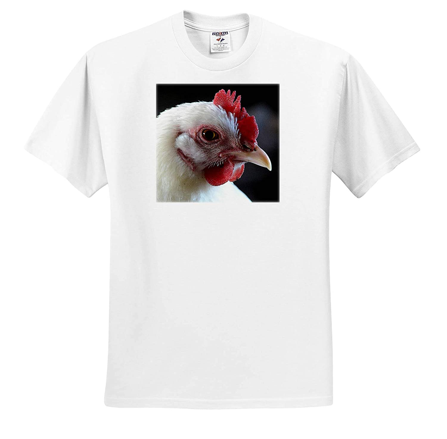 3dRose Cassie Peters Chickens T-Shirts White Hen