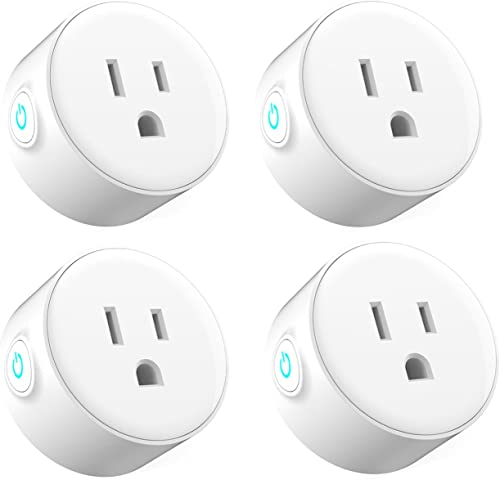 Ubetta WIFI Smart Plug Mini Socket Outlet Compatible with Alexa Echo and Google Assistant No Hub Required Remote Control Your devices by Smart Phone 4 pack