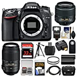 Nikon D7100 Digital SLR Camera with 18-55mm & 55-300mm VR Lenses, WU-1a, Bag & 32GB Card + Flash + Battery + Tripod + Filters + Remote + Kit