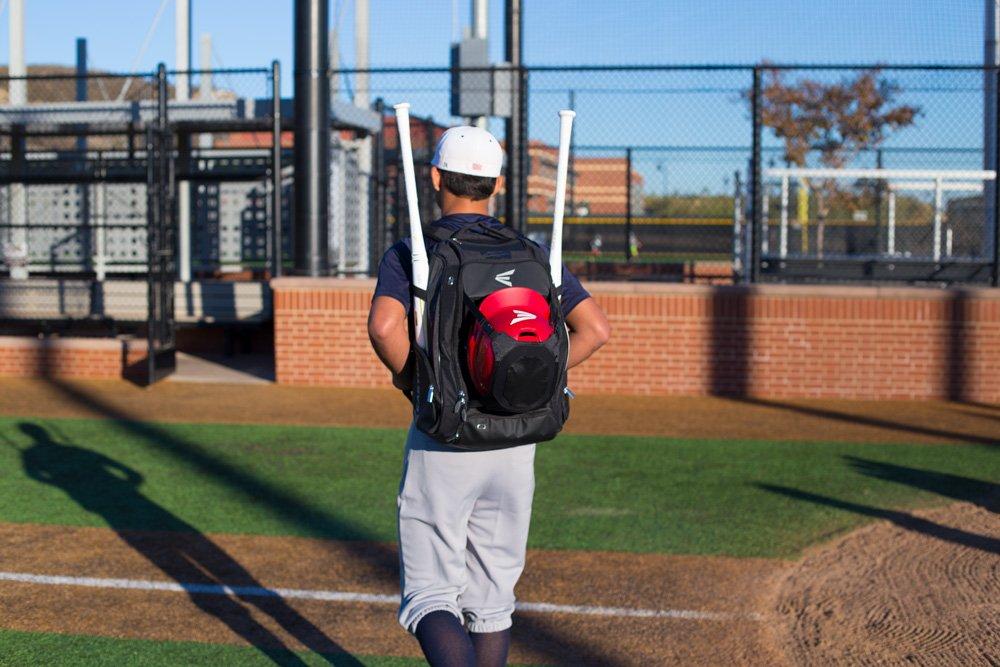 EASTON WALK-OFF IV Bat & Equipment Backpack Bag | Baseball Softball | 2020 | Stars & Stripes | 2 Bat Sleeves | Vented Shoe Pocket | External Helmet Holder | 2 Pockets | Valuables Pocket | Fence Hook by Easton