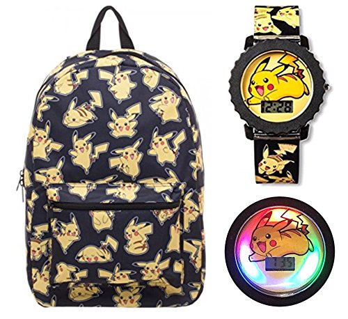 Pokemon Pikachu 2-Piece Backpack Set with 17