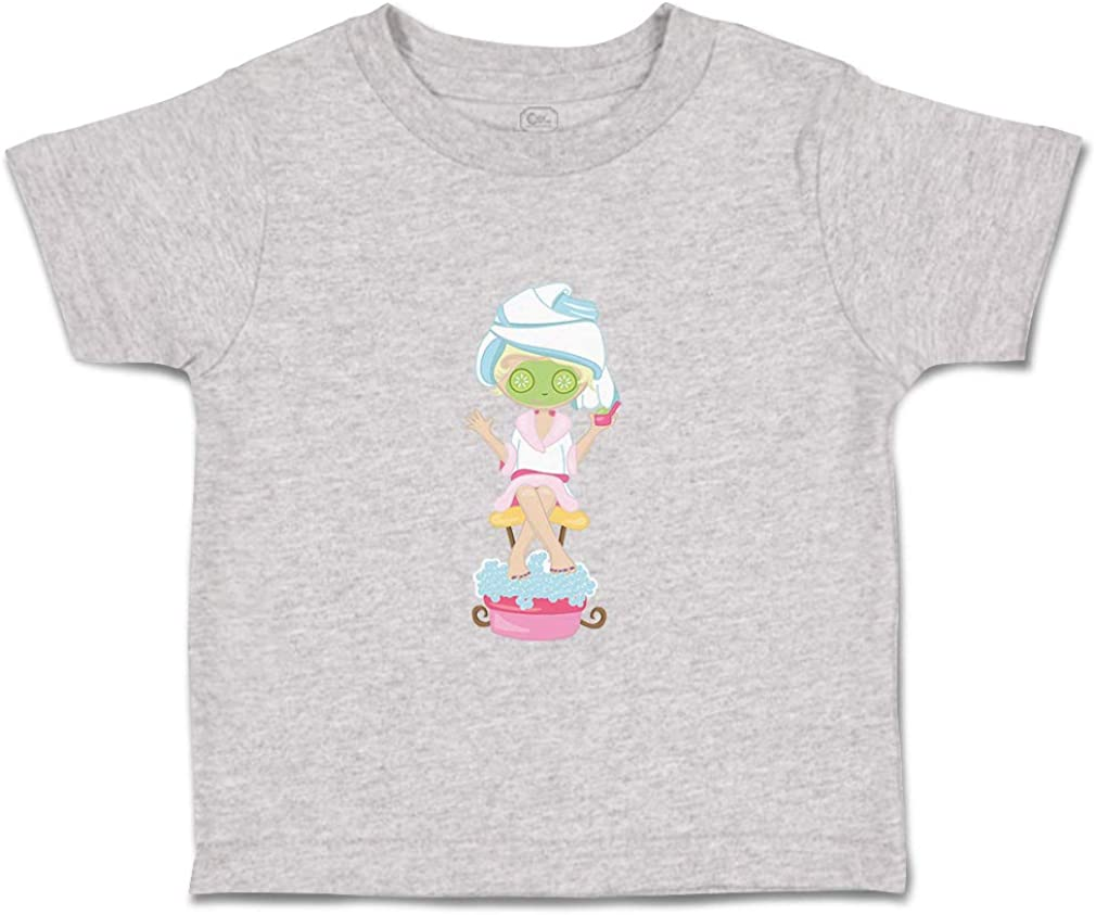 Custom Baby /& Toddler T-Shirt Face Mask Cucumbers Pedicure Blonde Cotton