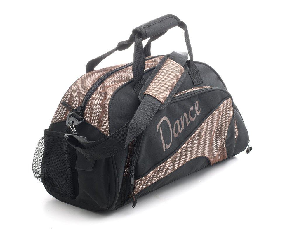 Katz Dancewear Girls Ladies Medium Sparkly Chocolate Brown Dance Ballet Tap Kit Holdall Sports Bag KB94