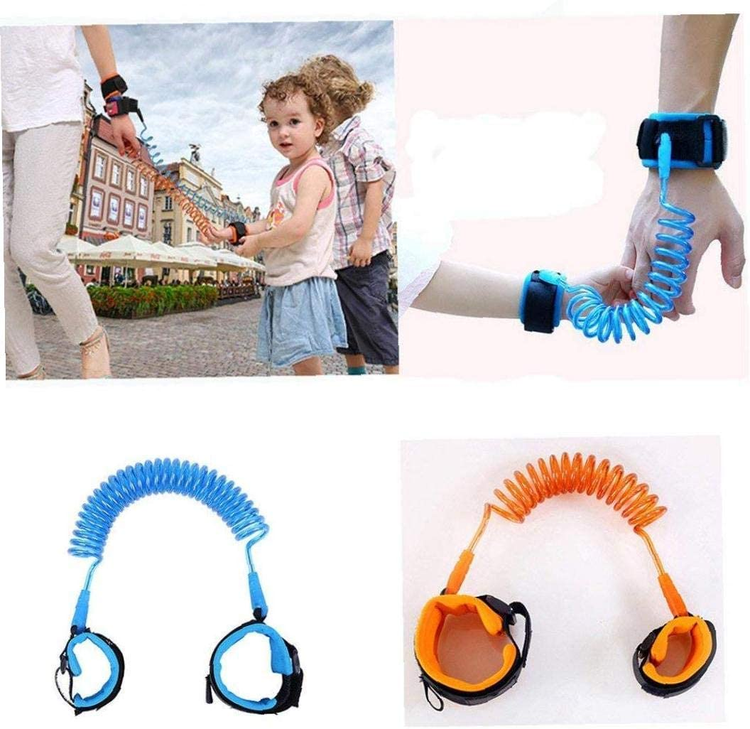 Child Safety Harness FEDSJUIHYG Baby Child Anti Lost Safety Wrist Harness Walking Leash Hand Safe for Toddlers Kids 1.5m Blue