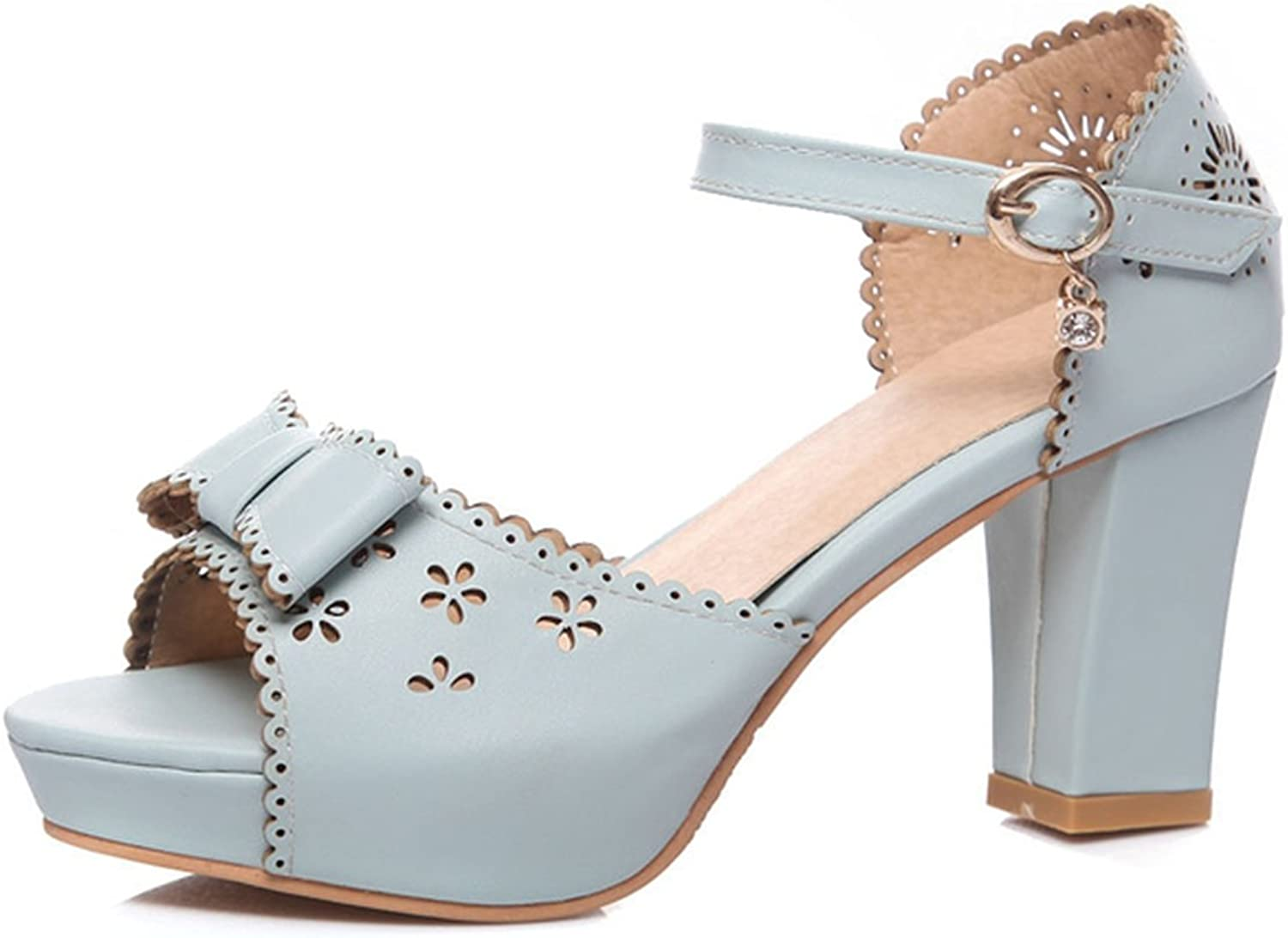 Collocation-Online Big Size 33-43 Sweet Bow Lace Edge Summer Sandals Shoes Woman Trendy High Heels Date