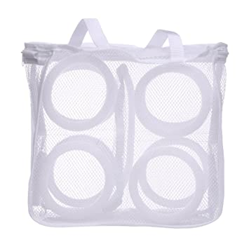 Storage Holders & Racks Sneaker Tennis Boots Sports Shoes Mesh Laundry Washing Bag Household Essentials