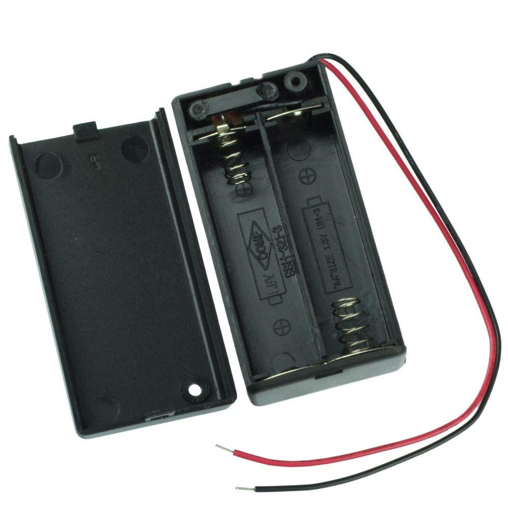 DSYJ Battery Holder for 2AA Battery - w/Wires and Switch